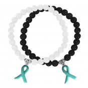 wear teal cancer armband