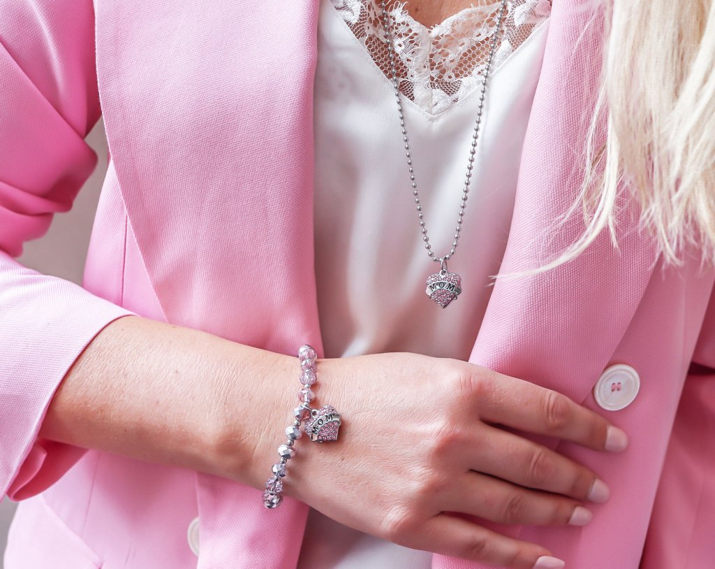 smycken till en mamma Smycken rosa bandet present Smyckes-set till mamma  Smyckes-set till mamma ... e06ace81c8991