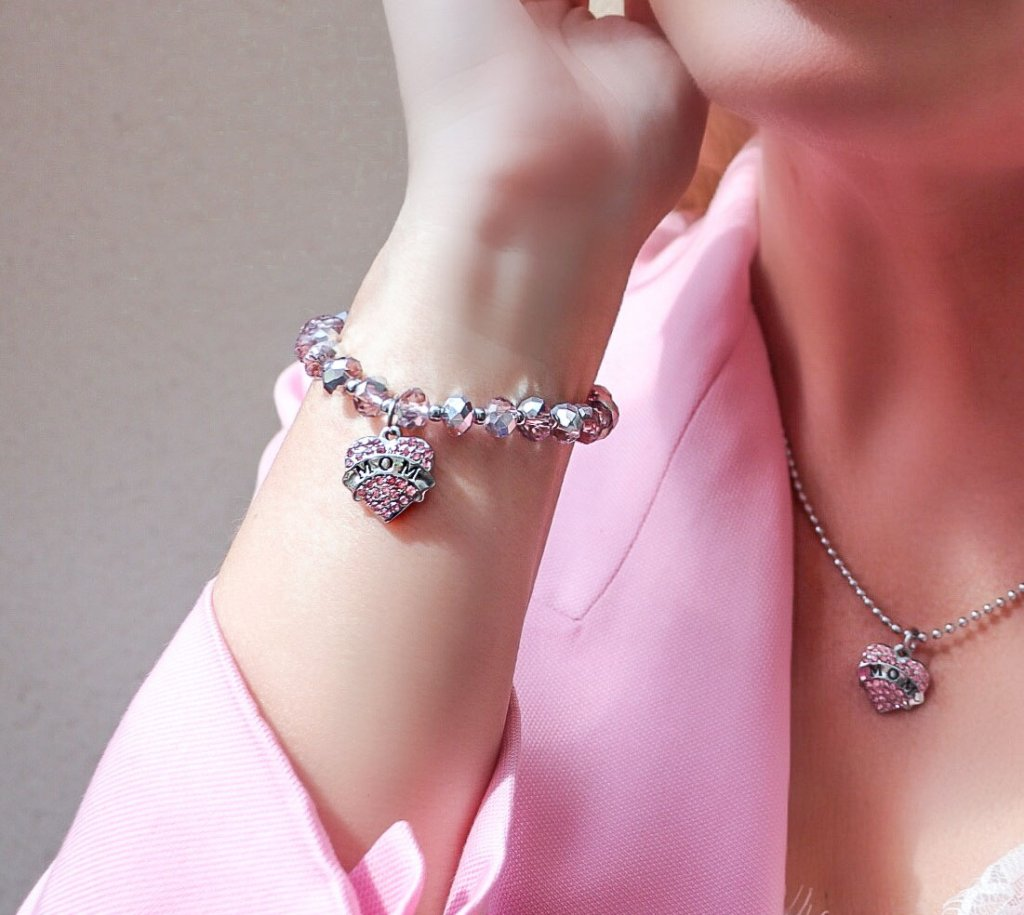... mamma Present rosa bandet smycke Mors dag armband present dfbec7ce42a97